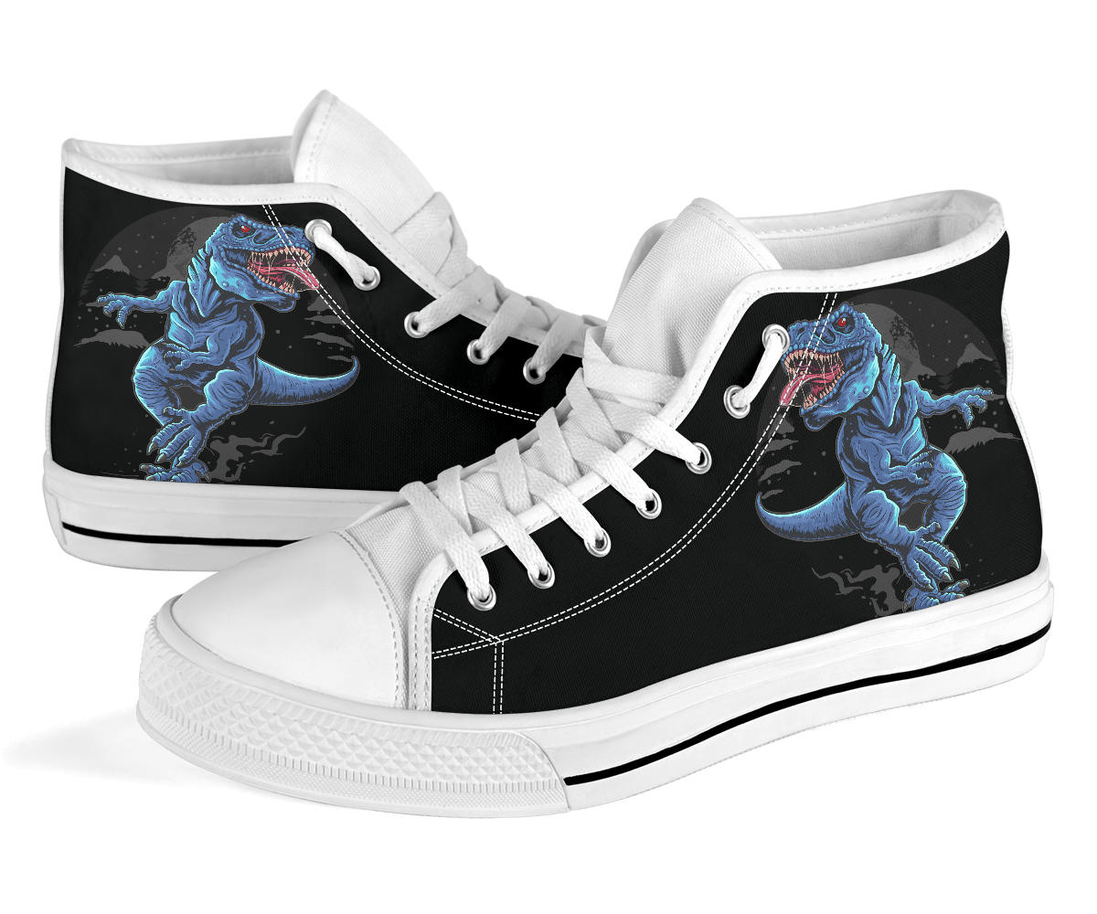 T-Rex Snow - Adult Dinosaur High Top Shoes