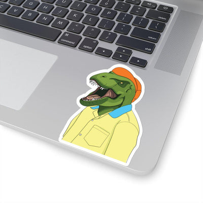 Yellow Shirt Vinyl Dinosaur Sticker