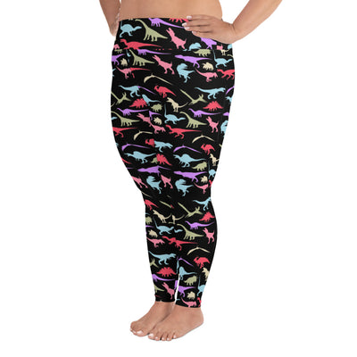 Dinosaur Leggings Plus Size Adults