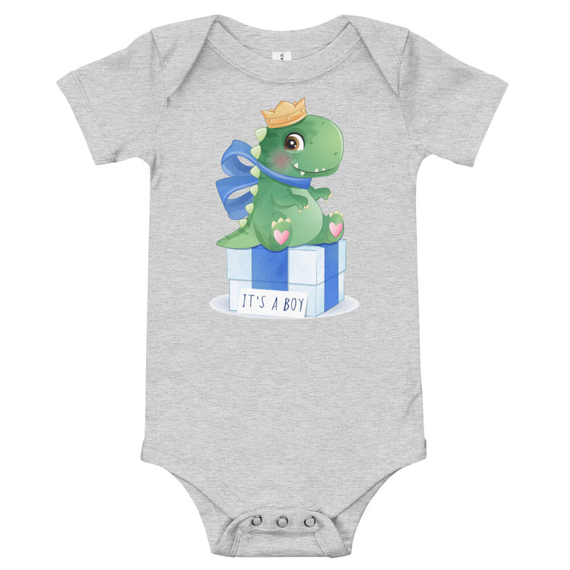 Dinosaur Baby Bodysuit - It's A Boy