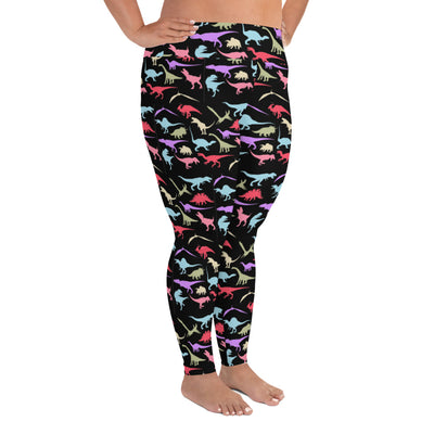 Dinosaur Leggings For Plus Sizes