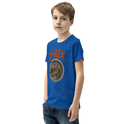 Blue Kids Dinosaur Shirt