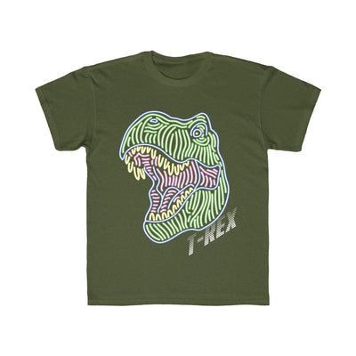 Dinosaur Shirt For Kids - Olive