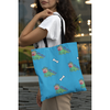 Girl Using Dinosaur Tote Bag