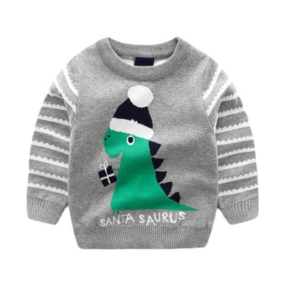 Toddler Dinosaur Christmas Sweater