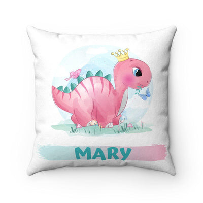 Watercolor Dino Pillow - Personalized