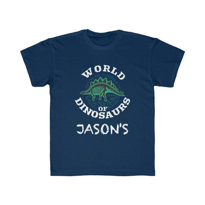 World Of Dinosaurs T-Shirt - White - Personalized