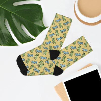Yellow Dinosaur Socks