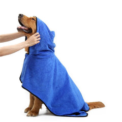 Soft Paw Print Pet Robe