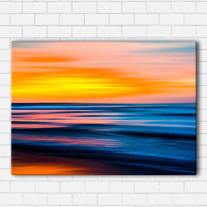 Abstract Beach Sunset Canvas Sets