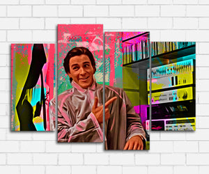 American Psycho Hip To Be Square Neon Canvas Sets