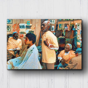Coming to America Barbershop Canvas Sets