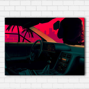 Delorean Vice Canvas Sets
