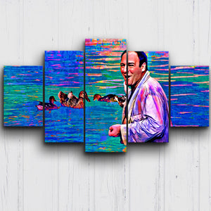 Mr. S & Ducks Color Drip Canvas Sets