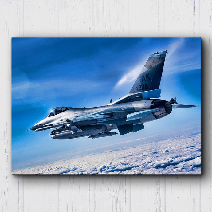 F-16 Fighting Falcon Clouds Canvas Sets