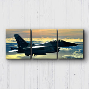 F-16 Fighting Falcon Sunset Canvas Sets