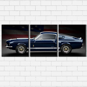 Ford Mustang GT500 and Flag Canvas Sets