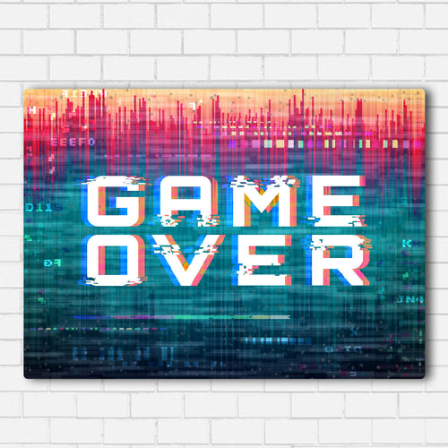 Game Over Color Splash Canvas Sets