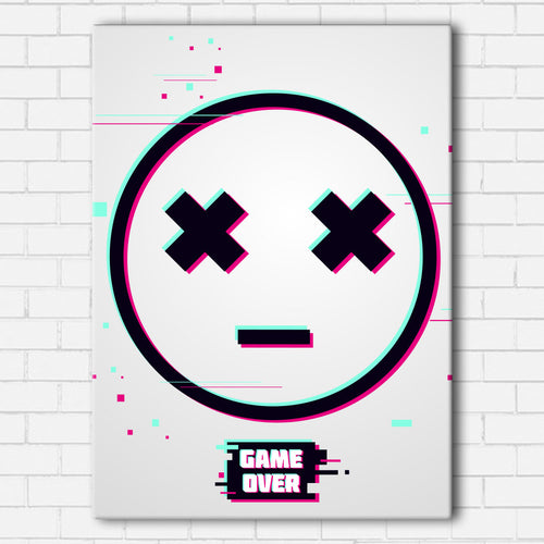 Game Over Smiley Canvas Sets