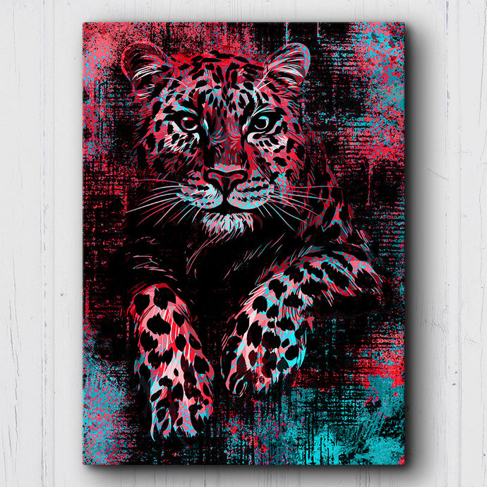 Grunge Leopard Canvas Sets