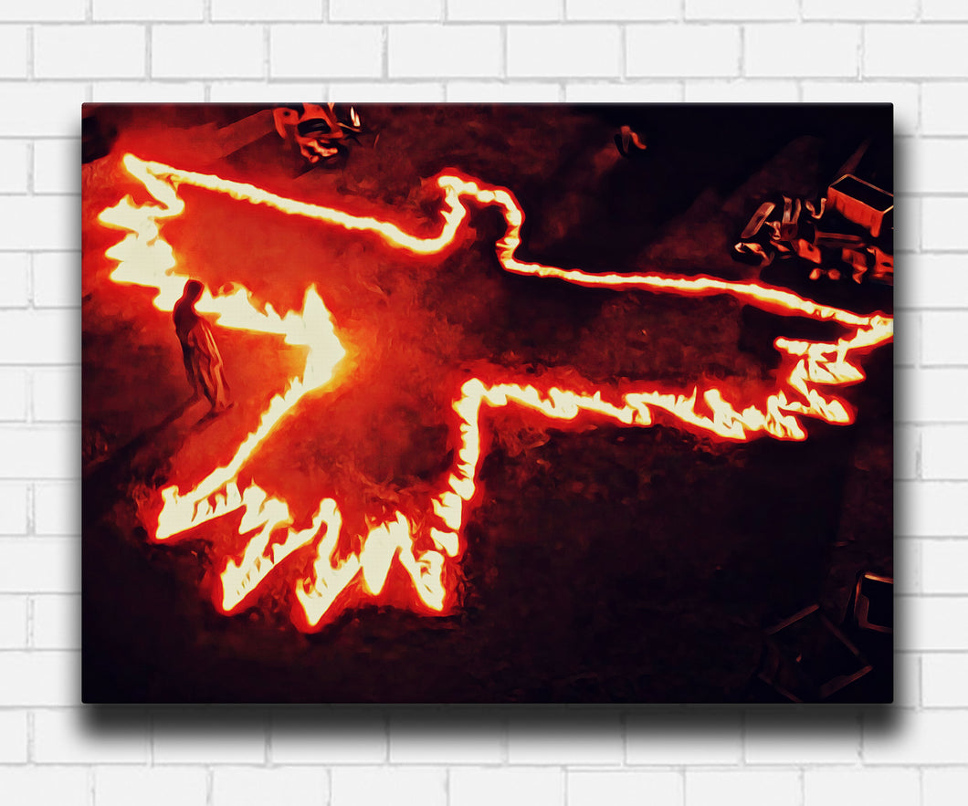 The Crow In Flames Canvas Sets
