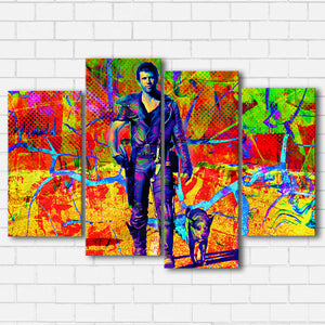 The Road Warrior Color Drip Canvas Sets