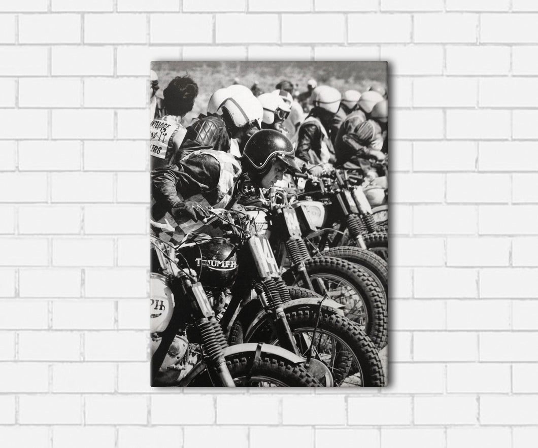 Steve McQueen Triumph Canvas Sets
