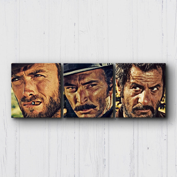 The Good The Bad The Ugly Faces Canvas Sets