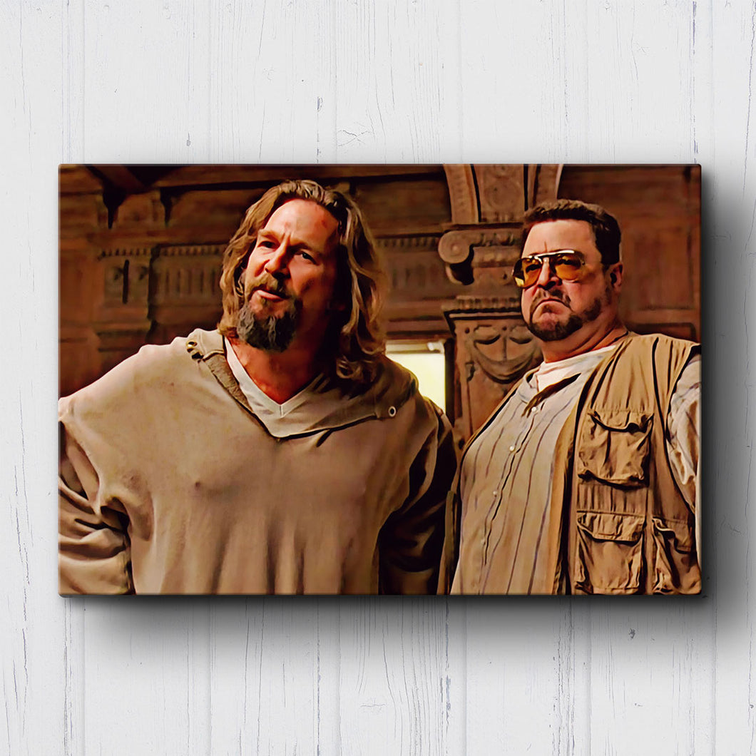 The Big Lebowski The Dude and Walter Canvas Sets