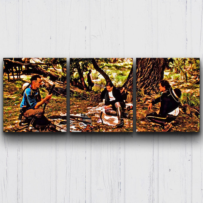 Tombstone Walking on Water Canvas Sets