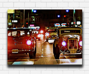 American Graffiti Downtown Race Canvas Sets