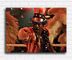 Rocky Apollo Creed Mr USA Canvas Sets