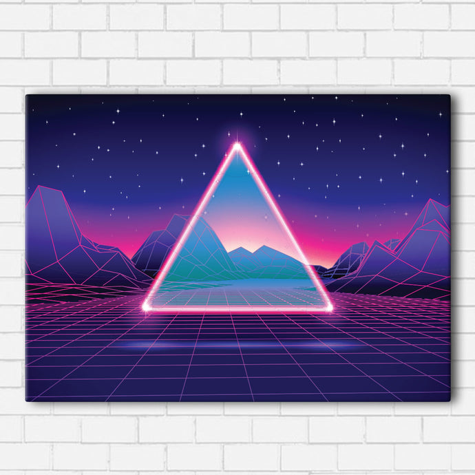 Vaporwave Triangle Canvas Sets