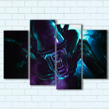 "Load image into Gallery viewer, Alien Canvas SetsWall Art4 PIECE / SMALL / Standard (.75"") - Radicalave"