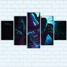 "Load image into Gallery viewer, Alien Canvas SetsWall Art5 PIECE / SMALL / Standard (.75"") - Radicalave"