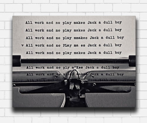The Shining All Work and No Play Canvas Sets