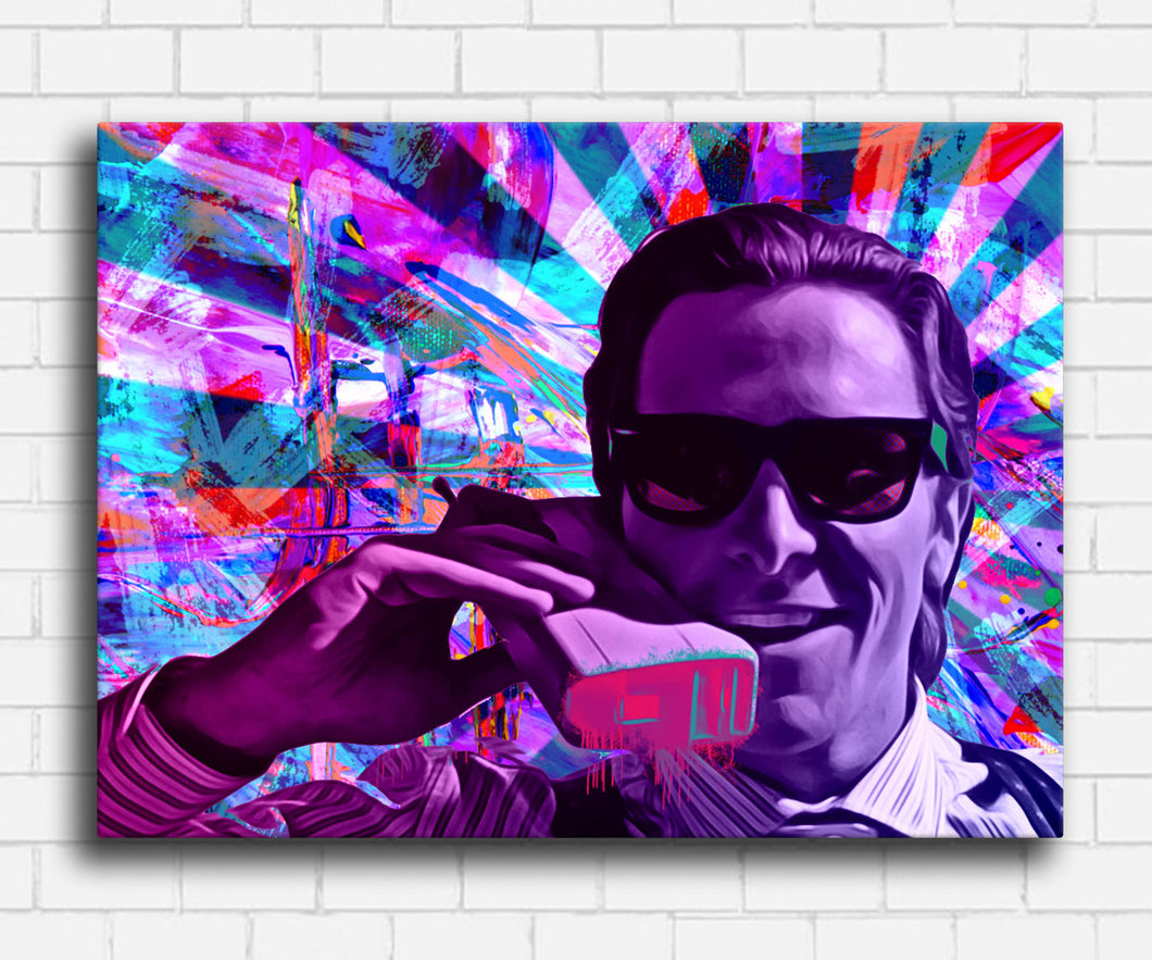 American Psycho Neon Drip Canvas Sets