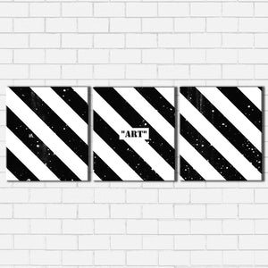 ART Black and White Canvas Sets