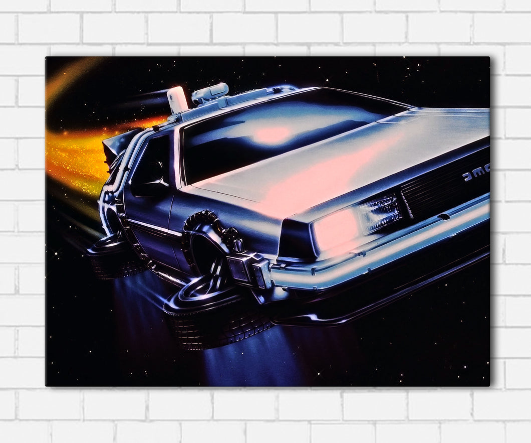 BTTF - Flying Time Machine Canvas Sets