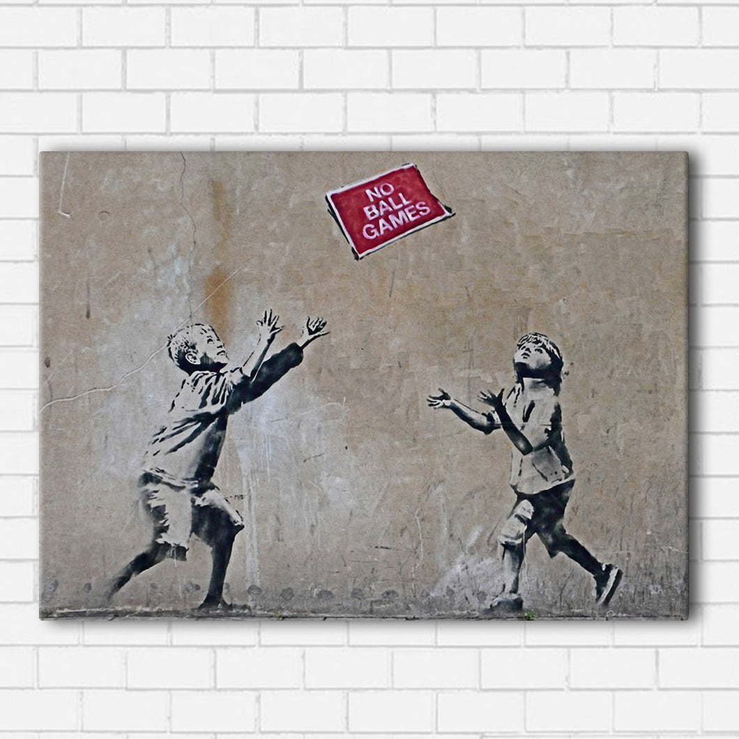 Banksy No Ball Games Canvas Sets