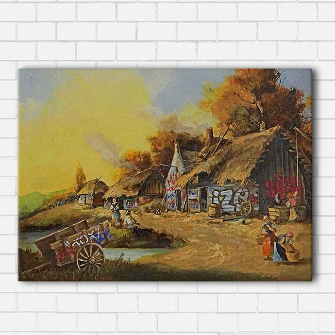 Banksy Graffiti Farm Canvas Sets