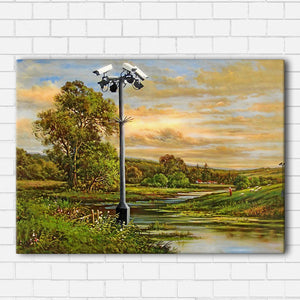 Banksy Field Surveillance Canvas Sets