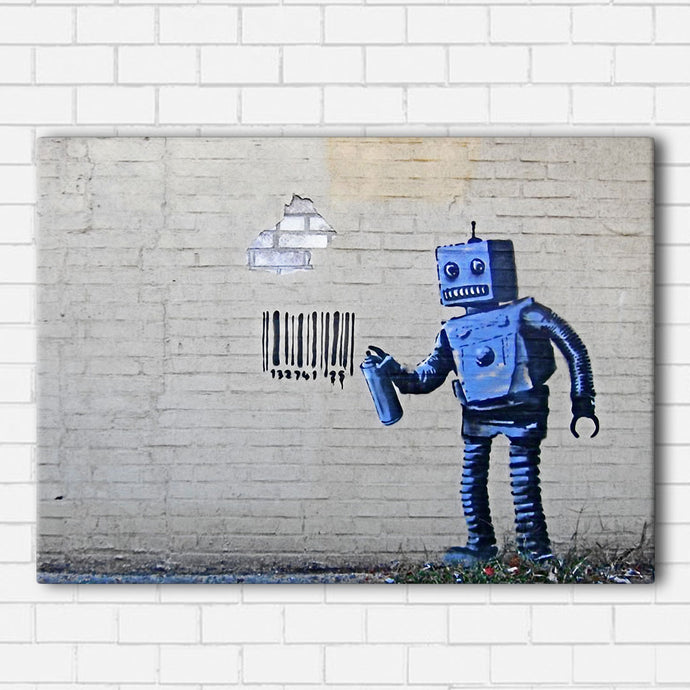Banksy Barcode Canvas Sets