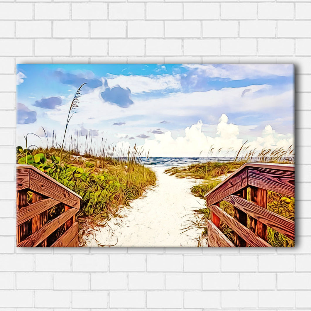 Beach Path  Canvas Sets