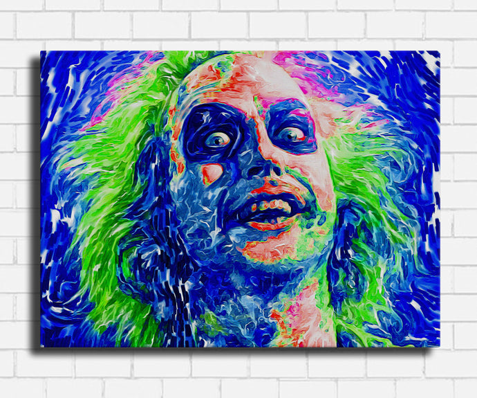 Beetlejuice Neon Pop Canvas Set 1 piece