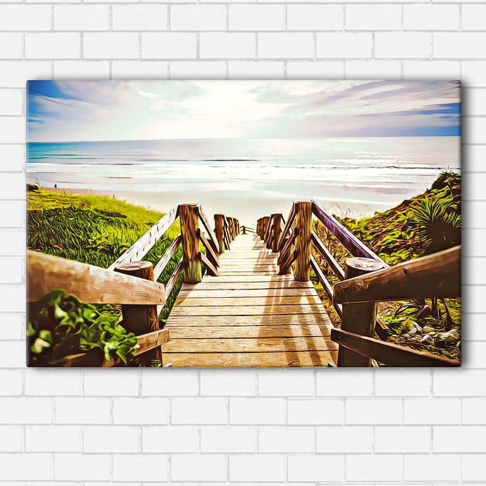 Beach Boardwalk Canvas Sets