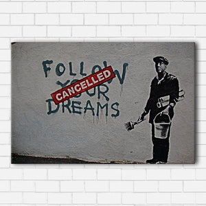 Banksy Dreams Cancelled Canvas Sets