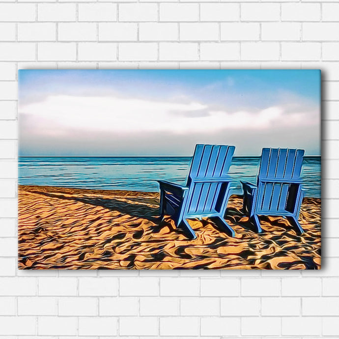 The Blue Chairs Canvas Sets