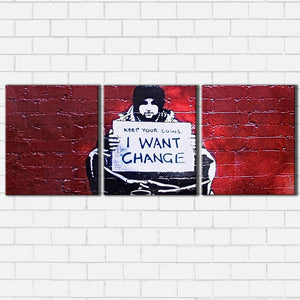 Banksy Change Canvas Sets
