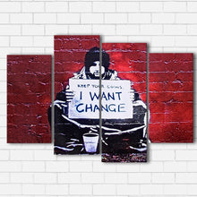 Load image into Gallery viewer, Banksy Change Canvas Sets